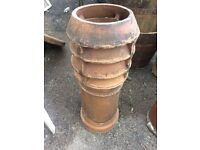 Old terracotta chimney pots