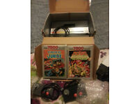 atari 7800 with 2 games great retro item n64 snes playstation xbox