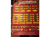 Railway badges...Squires OOgauge Railway locomotive badges