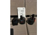 Bosch drill batterys with charger