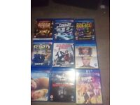 9 blue ray dvds
