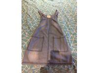 Girls 10-11 yr M&S Denim Pinafore Dress, pet and smoke free