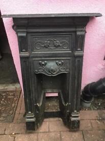 Original Art Nouveau Fireplace