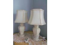 Vintage bedside table lamps X2 excellent condition