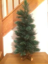 New 3ft Christmas Tree - Slightly glittered ends