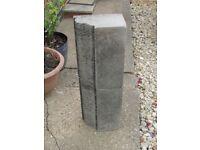 2 X Ornamental Solid Stone Pillars