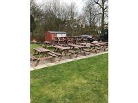 Garden benches/picnic tables