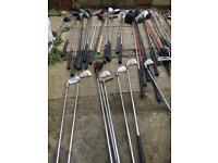Large job lot of x50 golf clubs - mixed brands bargain