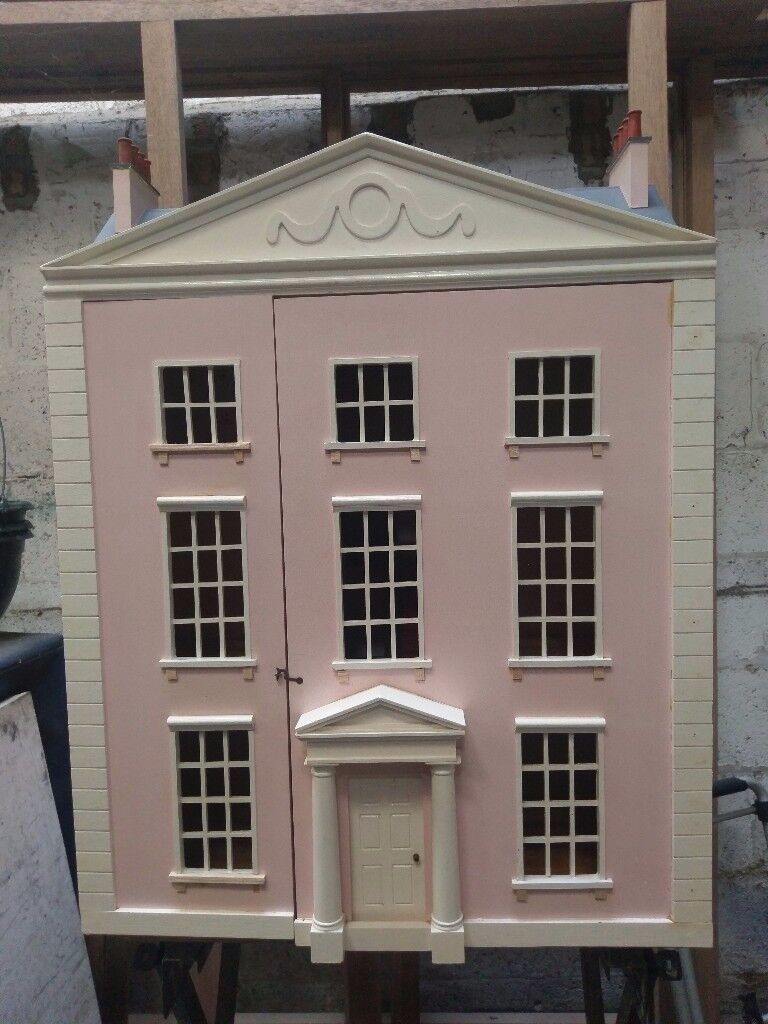 1/12 Scale Large Georgian Dolls House, Collectors Project To Finish, Or Christmas Present.