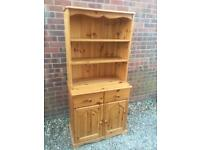 Solid chunky solid pine Welsh dresser. Dovetail Joints. Quality solid build