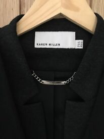 Karen Millen Blazer -Grey/Black