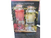 Glass drink dispensers 4 in total