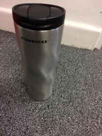 Starbucks Silver Flask