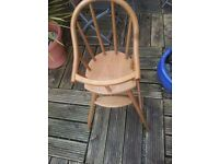 Wooden baby chair in great condition