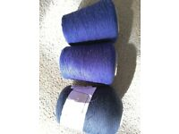 Cones of knitting wool/yarn