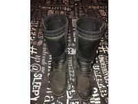 Tcx Motorbike boots size 10
