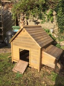 Winter house rabbit hutch