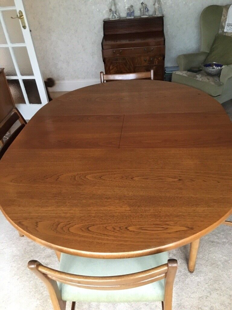G Plan S Retro Teak Table And Chairs In Bramhall Manchester - Teak table and 4 chairs
