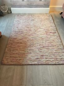 B & Q Multi colour rug knit effect