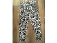 NEW leopard print pants size M