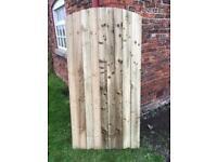 Feather edge round/flat top Garden gates