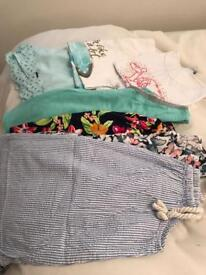 Girls summer clothes bundle age 8
