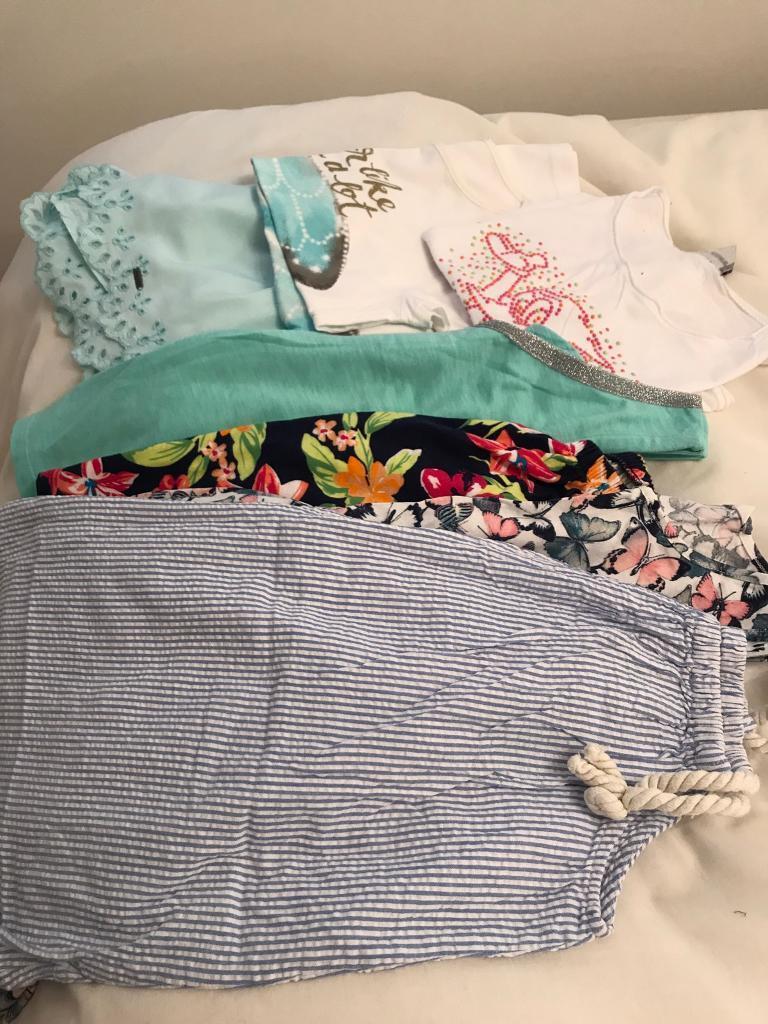 Girls summer clothes bundle age 8