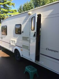 Bailey Pageant Champagne 2002 4 berth caravan for sale everything included