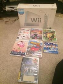 White boxed Nintendo Wii console