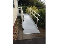 2650mm Aluminium Semi-Permanent Ramp with Double Handrails (not installed)