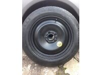 """ford focus 16"""" space saver wheel & tyre"""