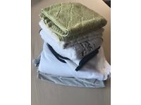 Fitted sheets and hand towels