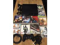 Playstation 3 Slimline 250gb Bundle 10 Games 1 Dualshock Pad All Leads Excellent Condition