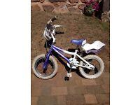 """14"""" girls purple pro bike glitter. Suit 4-6 years"""