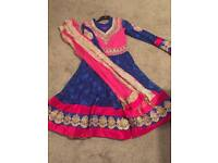 Blue and pink Pakistani / Indian dress