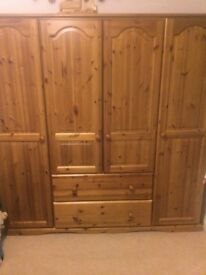 Solid pine wardrobe in very good condition