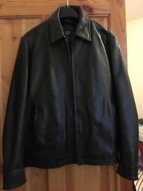 Men's small size gap leather jacket brand new