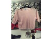 Baby pink frilly top