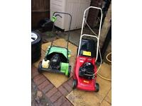 Two petrol lawn mowers. Spares Or Repair.