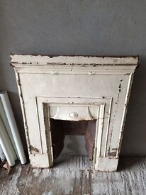 Cast iron fireplace - great upcycle project