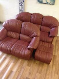 3 seater and 2 seater sofas and stool can deliver