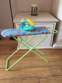 Children's Ironing Board and Battery operated Iron
