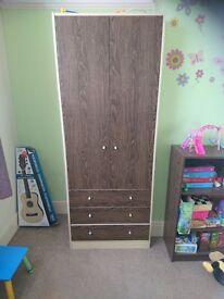 2 door 3 drawer wardrobe