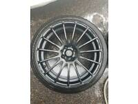 17inch black alloys with tyres