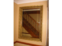 EXTRA LARGE – ELEGANT FRENCH ANTIQUE STYLE BEVELLED EDGE MIRROR (CAN DELIVER)