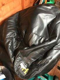 Real leather bean bag
