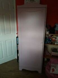 Childrens slim pink wardrobe