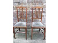 2 chairs ideal for upholstery or upcycling project