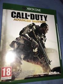 Xbox one game cod advanced war fair