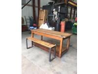 Table butchers block kitchen island